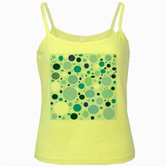 Bubbly Blues Yellow Spaghetti Tank