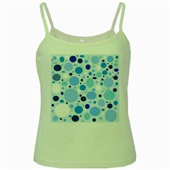 Bubbly Blues Green Spaghetti Tank