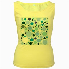 Bubbly Blues Women s Tank Top (yellow)
