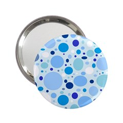 Bubbly Blues Handbag Mirror (2.25 )