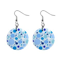 Bubbly Blues Mini Button Earrings