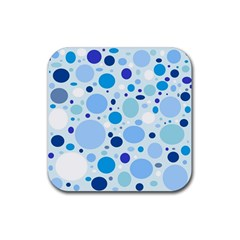 Bubbly Blues Drink Coaster (Square)