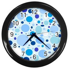 Bubbly Blues Wall Clock (Black)