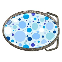 Bubbly Blues Belt Buckle (Oval)