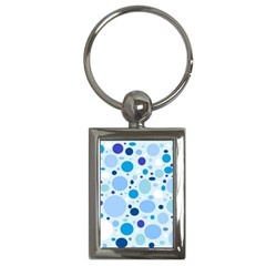 Bubbly Blues Key Chain (rectangle)