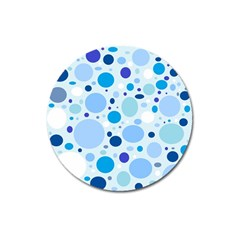 Bubbly Blues Magnet 3  (round)