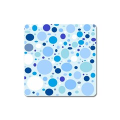 Bubbly Blues Magnet (square)