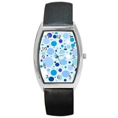 Bubbly Blues Tonneau Leather Watch