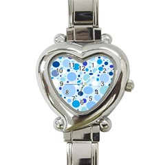 Bubbly Blues Heart Italian Charm Watch