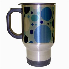 Bubbly Blues Travel Mug (Silver Gray)