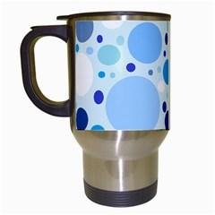 Bubbly Blues Travel Mug (White)
