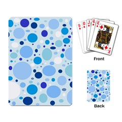 Bubbly Blues Playing Cards Single Design
