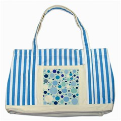 Bubbly Blues Blue Striped Tote Bag