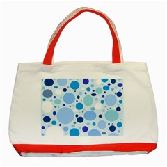 Bubbly Blues Classic Tote Bag (Red)