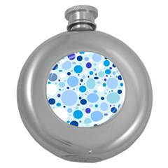 Bubbly Blues Hip Flask (Round)