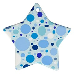 Bubbly Blues Star Ornament (Two Sides)