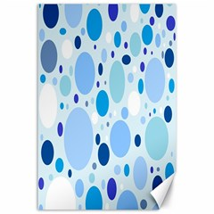 Bubbly Blues Canvas 24  x 36  (Unframed)