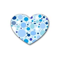 Bubbly Blues Drink Coasters (heart)