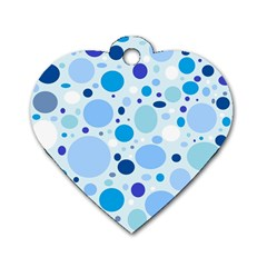 Bubbly Blues Dog Tag Heart (Two Sided)