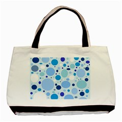 Bubbly Blues Twin-sided Black Tote Bag