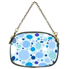 Bubbly Blues Chain Purse (One Side)