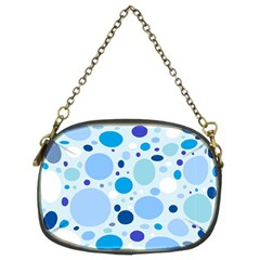Bubbly Blues Chain Purse (two Sided)