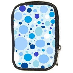Bubbly Blues Compact Camera Leather Case