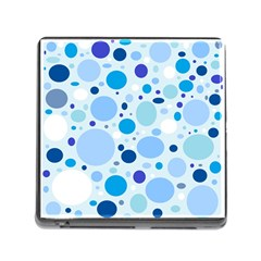 Bubbly Blues Memory Card Reader With Storage (square)