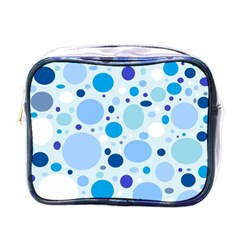 Bubbly Blues Mini Travel Toiletry Bag (One Side)