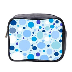 Bubbly Blues Mini Travel Toiletry Bag (Two Sides)