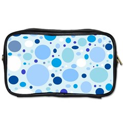 Bubbly Blues Travel Toiletry Bag (Two Sides)
