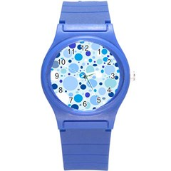 Bubbly Blues Plastic Sport Watch (small)