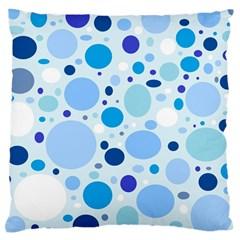 Bubbly Blues Large Cushion Case (single Sided)