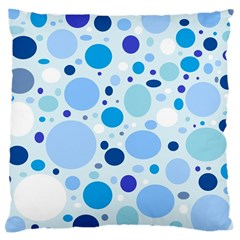 Bubbly Blues Large Cushion Case (two Sided)