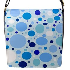 Bubbly Blues Flap Closure Messenger Bag (Small)