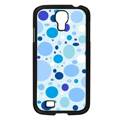 Bubbly Blues Samsung Galaxy S4 I9500/ I9505 Case (Black)
