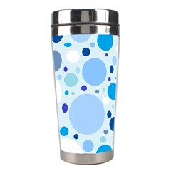 Bubbly Blues Stainless Steel Travel Tumbler