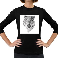Lone Wolf Women s Long Sleeve T-shirt (Dark Colored)