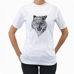 Lone Wolf Women s T-Shirt (White)