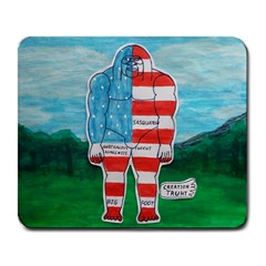 Painted Flag Big Foot Aust Large Mouse Pad (rectangle)