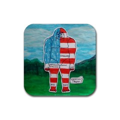 Painted Flag Big Foot Aust Drink Coasters 4 Pack (square)