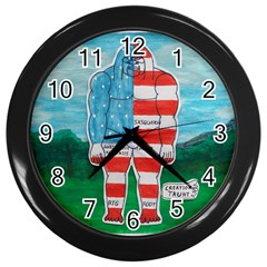 Painted Flag Big Foot Aust Wall Clock (Black)