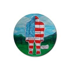 Painted Flag Big Foot Aust Drink Coaster (Round)