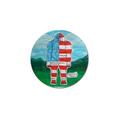 Painted Flag Big Foot Aust Golf Ball Marker 10 Pack