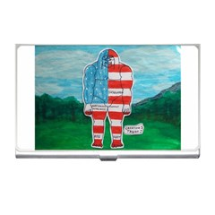 Painted Flag Big Foot Aust Business Card Holder
