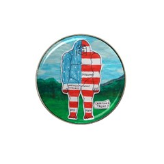 Painted Flag Big Foot Aust Golf Ball Marker 4 Pack (for Hat Clip)