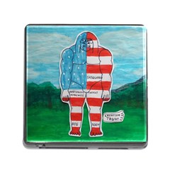 Painted Flag Big Foot Aust Memory Card Reader With Storage (square)