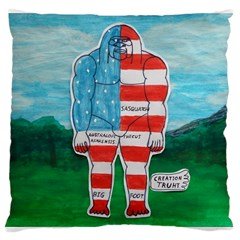 Painted Flag Big Foot Aust Large Cushion Case (Two Sided)