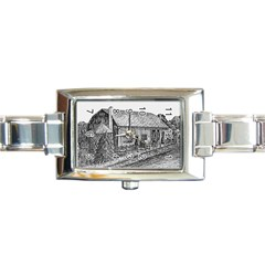 Sugarcreek ` Ave Hurley   Artrave    Rectangular Italian Charm Watch
