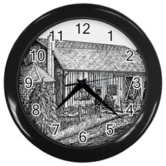 Sugarcreek ` Ave Hurley - ArtRave -  Wall Clock (Black)